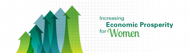 Increasing Economic Prosperity for Women banner