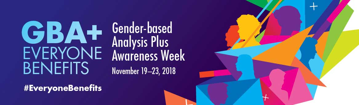 GBA+ Awareness Week 2018 Banner