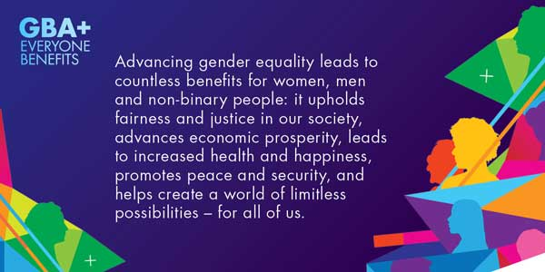 Advancing gender equality leads to countless benefits for women, men and non-binary people