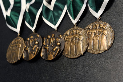 Governor General's Awards in Commemoration of the Persons Case medals.