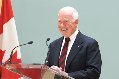 Governor General of Canada delivering remarks at the 2014 Governor General's Awards in Commemoration of the Persons Case ceremony.