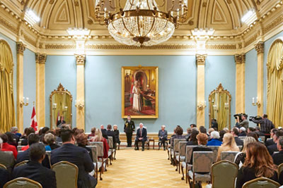 2014 Governor General's Awards in Commemoration of the Persons Case ceremony at Rideau Hall.