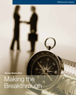 Cover for the Gender Diversity and Corporate Performance (Credit Suisse 2012)