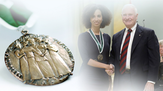 Emilie Nicolas, Recipient, 2014, Governor General Awards in Commemoration of the Persons Case