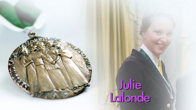 Julie Lalonde (Youth Recipient), Ottawa, Ontario, Recipient,  2013, Governor General Awards in Commemoration of the Persons Case
