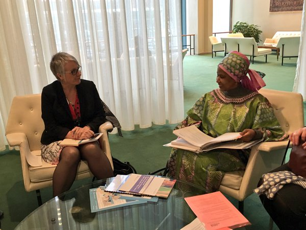 Minister discusses with Executive Director of UN Women